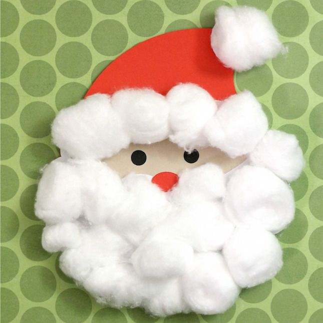 17 best ideas about santa crafts on pinterest kids christmas crafts christmas crafts for kids - Cotton ballspractical ideas ...