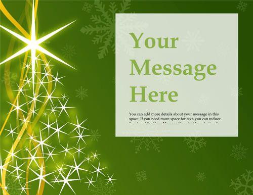 word christmas card templates free