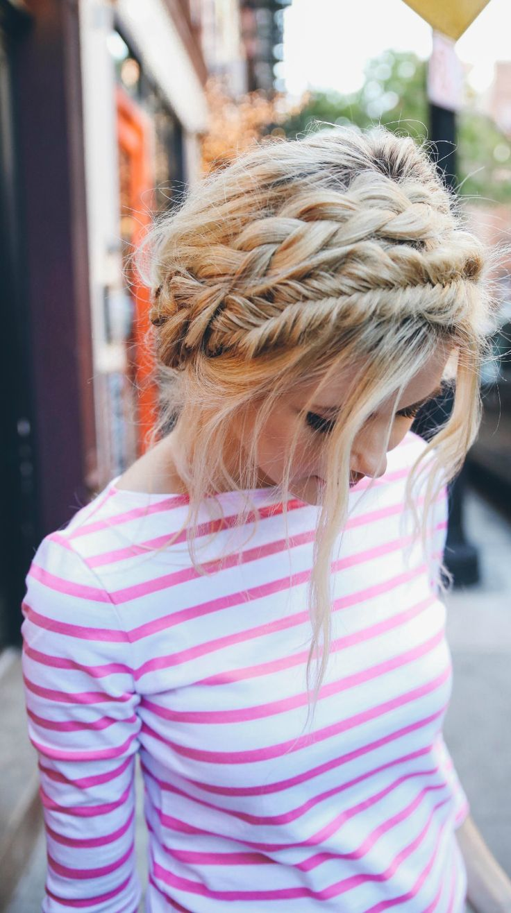 I love this messy Halo braid! Perfect for a lazy day look, or dress it up for a formal day!