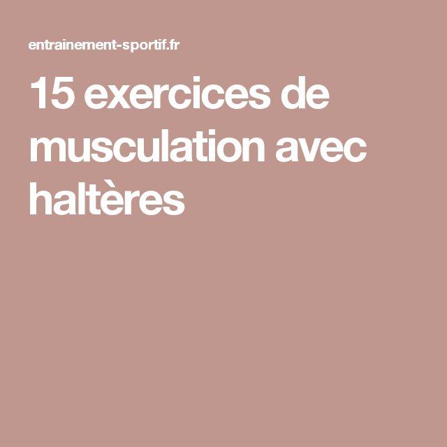 1000 id es sur le th me musculation avec halt res sur for Exercice de musculation chez soi