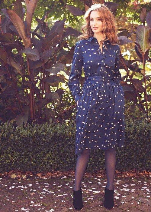 People Tree | Blue Dove Shirt Dress