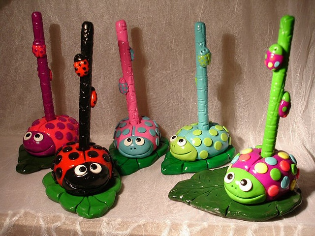 lady bug pen sets by MichelleMathis, via Flickr