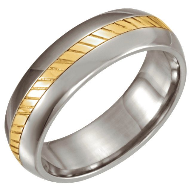 Stainless Steel & 18kt Yellow Comfort Fit 5.5mm Band...(ST 50526:295870:P).! Price: $149.99