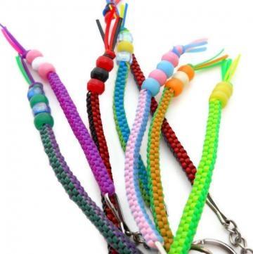 DIY Key Chain Key Ring Zipper Pull Plastic Lacing Cord Pony Beads Kit by talenaztreasurez for $3.00