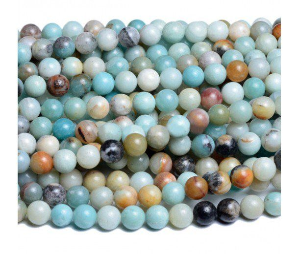 Amazonite Beads Multicolor 6mm Round I Want Beads