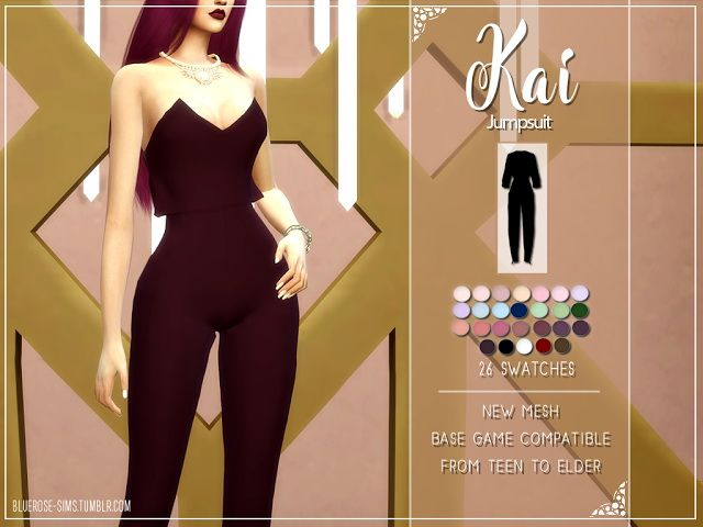 KAI JUMPSUIT at BlueRose-Sims • Sims 4 Updates
