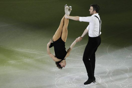 Pyeongchang Olympics Figure Skating Gala - Meagan Duhamel and Eric Radford of Canada perform during the figure skating exhibition gala in the Gangneung Ice Arena at the 2018 Winter Olympics in Gangneung, South Korea, Sunday, Feb. 25, 2018.