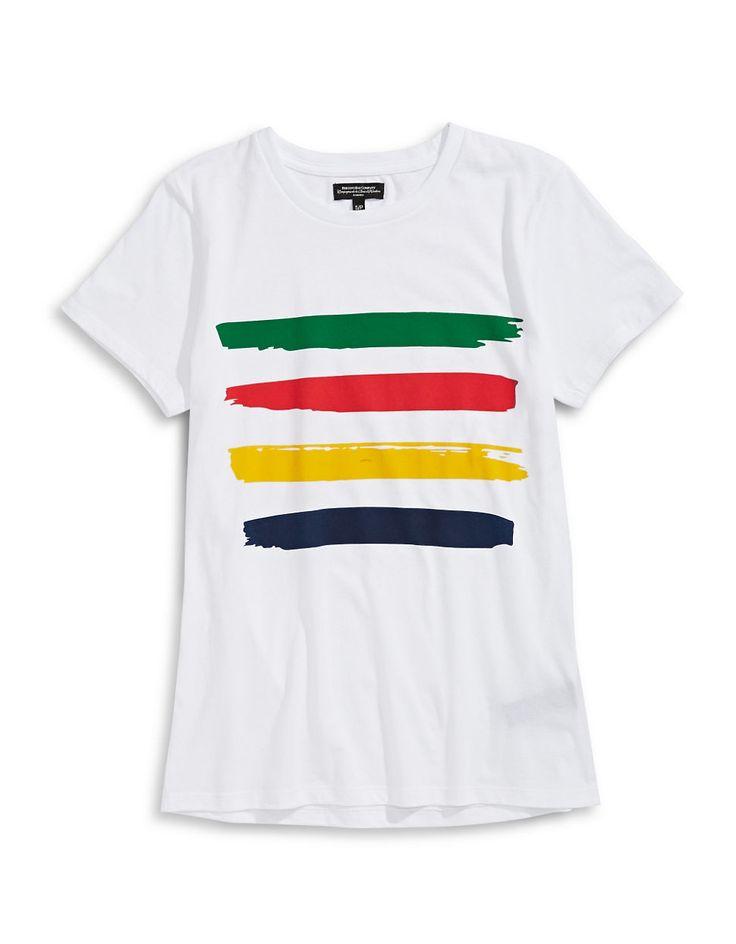 HBC Collections | I Heart Canada | Womens Brushstroke Multi Stripe T-Shirt | Hudson's Bay