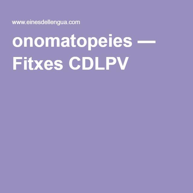 onomatopeies — Fitxes CDLPV