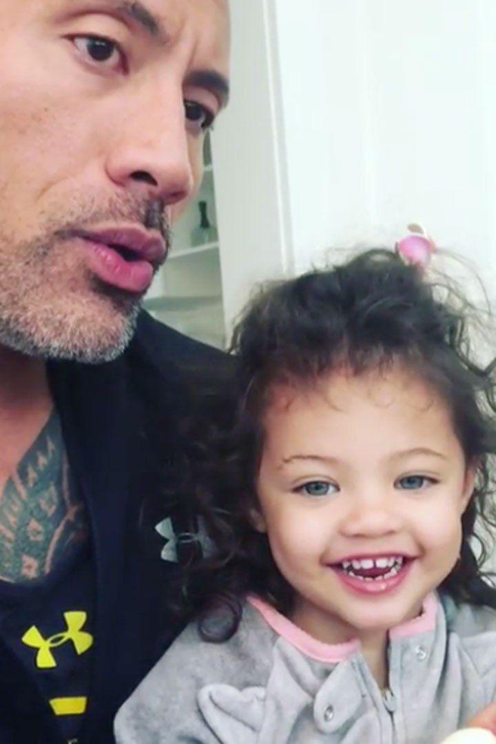 Dwayne Johnson S 2 Year Old Daughter Schools Him On Girl