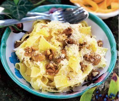 Recept: Pasta med nötter