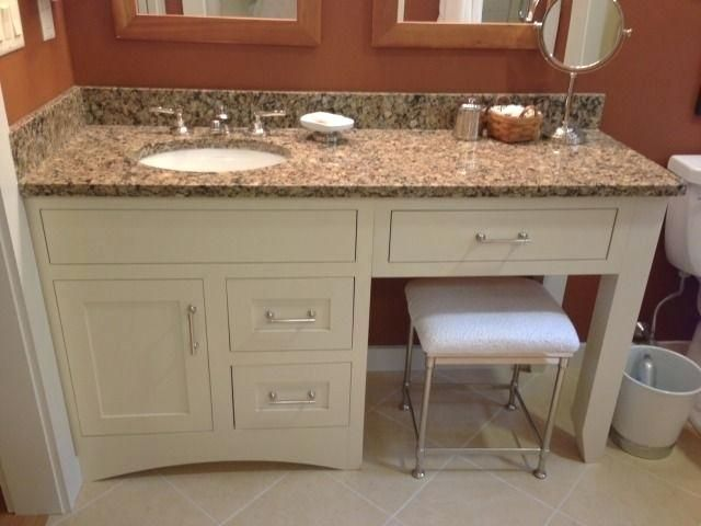 60 Inch Bathroom Vanity With Makeup Area Single Sink Vanity With