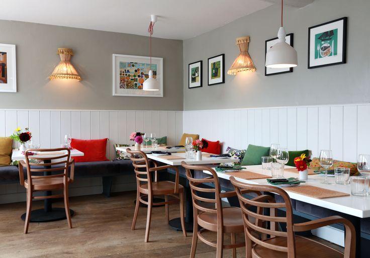 Restaurant interior.  ©Alex Maguire Photography. Brassica, Beaminster Square, West Dorset, UK