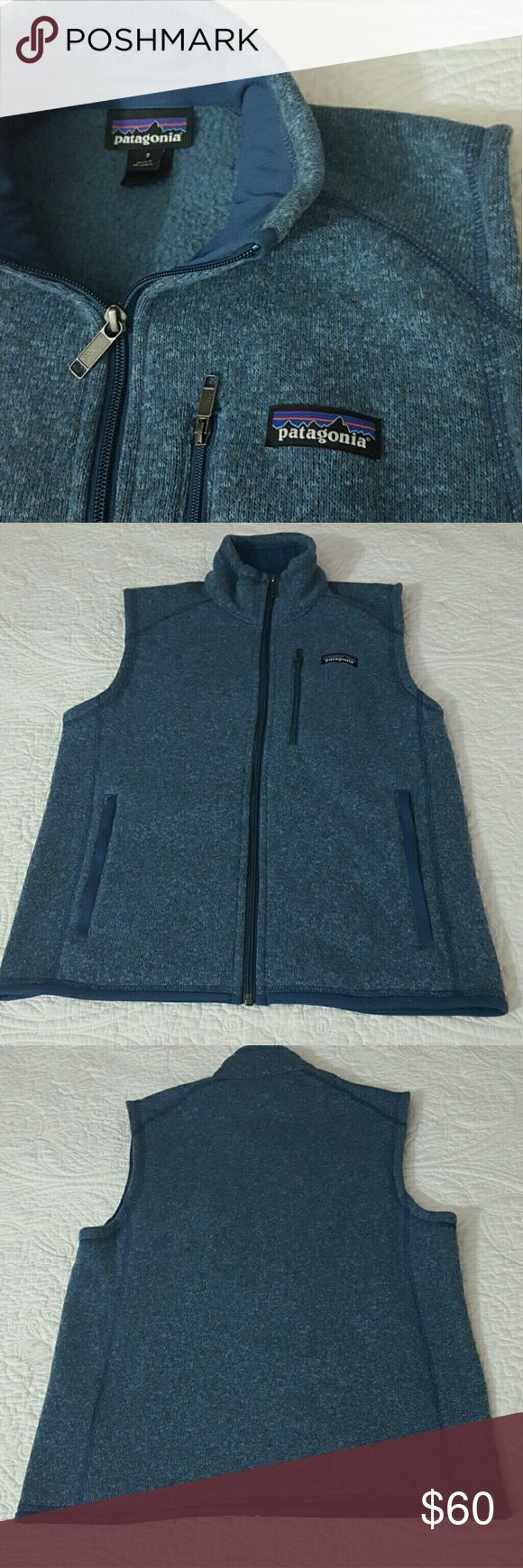 Patagonia Better Sweater Vest Like new condition,heather blue, small men ,can be medium for women Patagonia Jackets & Coats Vests