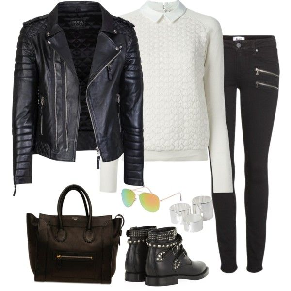 A fashion look from February 2015 featuring Tory Burch sweaters, Paige Denim jeans and Yves Saint Laurent boots. Browse and shop related looks.