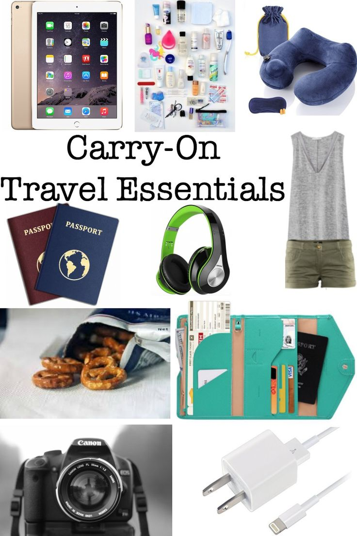 Not sure what to pack in your Carry-On bag? Read my blog post on what essentials you need to pack for either a domestic or international flight!