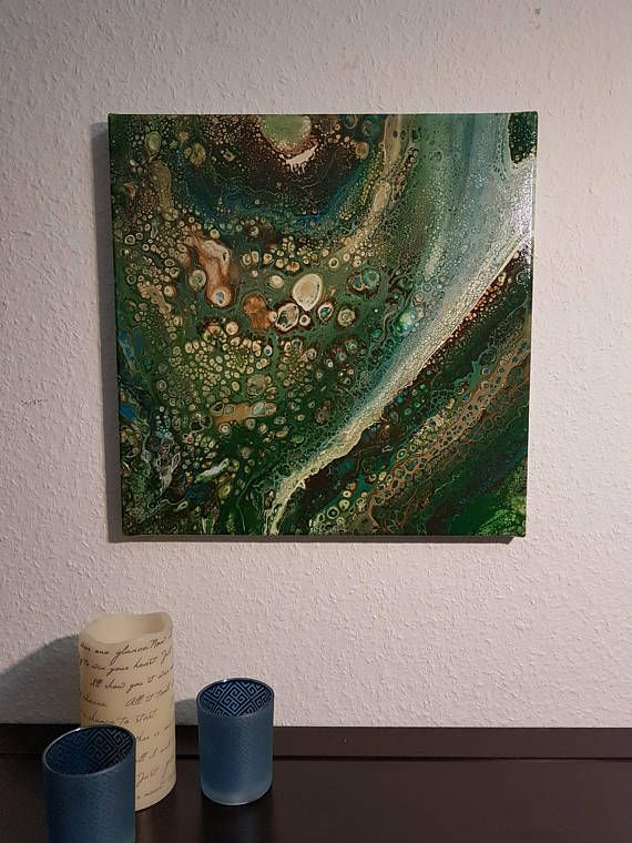 Flussigkeit Kunst Acryl Giessen Malerei Flussigkeit Leinwand