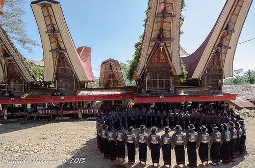 Ma'badong, Dance of Death. Tana Toraja, South Sulawesi, Indonesia
