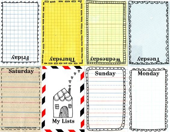 60 best Printable Planner Pages images on Pinterest Agenda - weekly agenda template