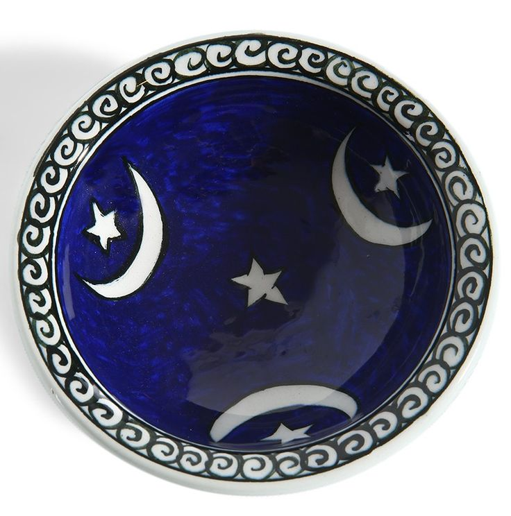 Ay-yıldız Desenli Seramik Kase