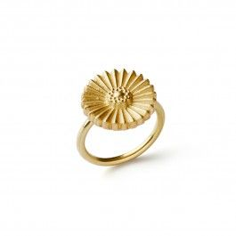 Daisy Ring - Handcrafted Danish Design. Mette Saabye's Daisy ring, in 18-karat gold, from her Botanical Collection will bring springtime to her heart every time she looks at this beautiful ring. The petals are delicately cut and detailed, as is the centre. The flower seems to float on its wearer's hand without aide or hindrance from gravity, and its style is modern, poetic, and romantic. This ring will make her feel like it's springtime all year long. http://www.nuuru.com/en/daisy.html