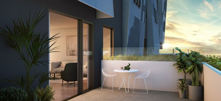 brunswick east halcyon apartment outdoor area alfresco dining balcony off the plan melbourne