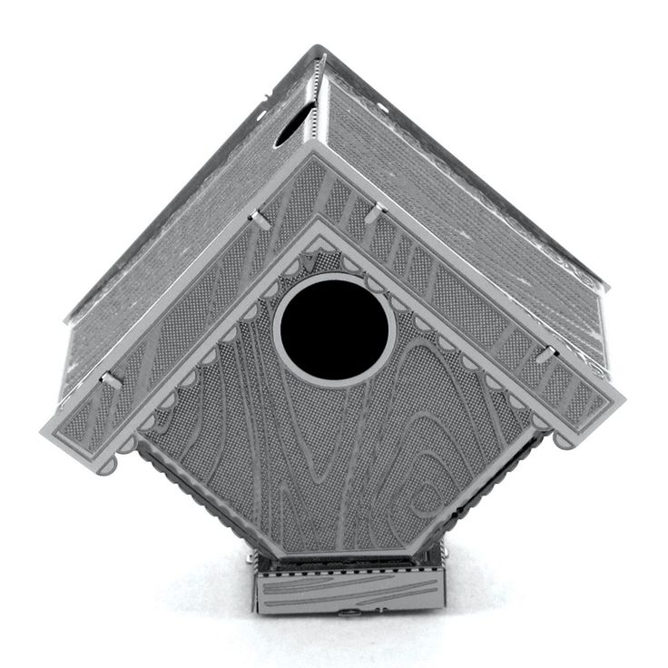 Fascinations Metal Earth Birdhouse 3D Metal Model Kit