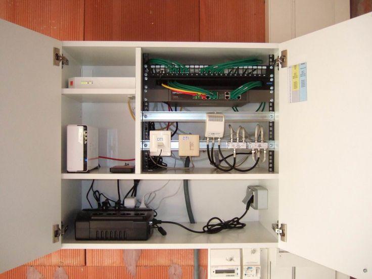 Un boitier domotique VDI Ikea avec un meuble de cuisine