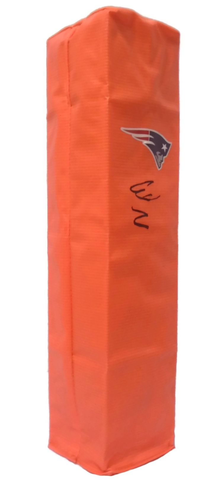 Wes Welker Autographed New England Patriots F/S Football End Zone Touchdown Pylon,Proof