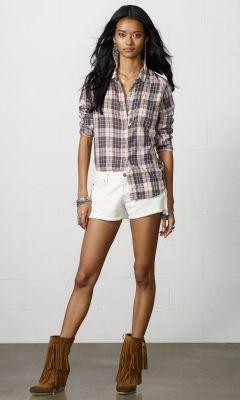Denim Beaded Mini-short - Denim & Supply Shorts & Skorts - Ralph Lauren UK