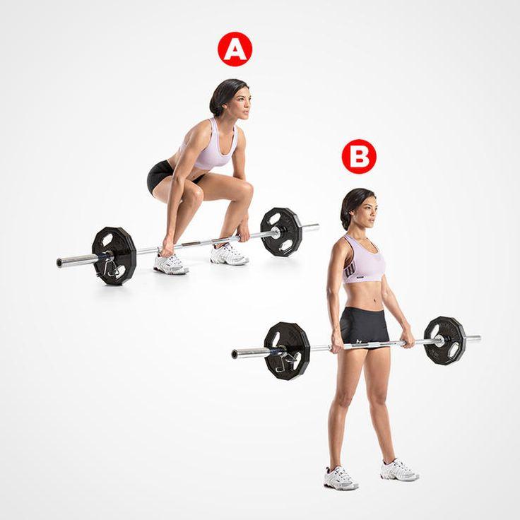 Barbell Deadlift http://www.womenshealthmag.com/fitness/trainers-favorite-total-body-exercises/barbell-deadlift