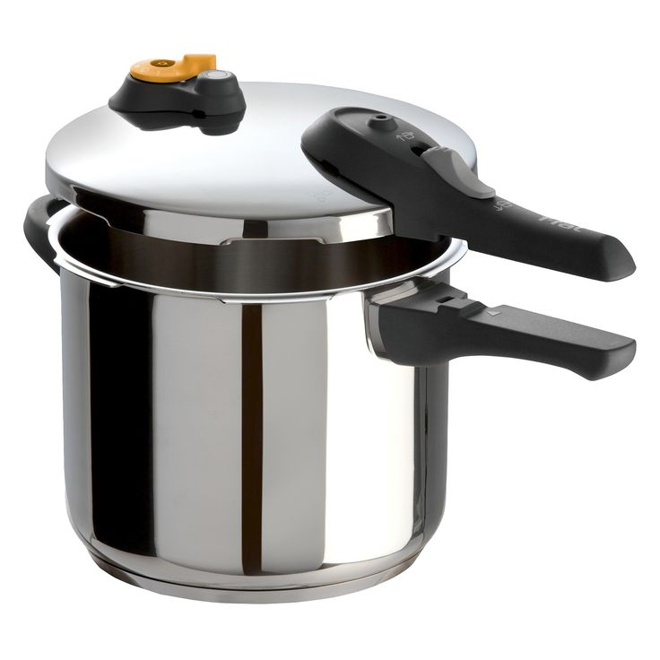 T-fal Ultimate Series Stainless Steel P25107 Induction Compatible Cookware 63 Qt Pressure Cooker Silver