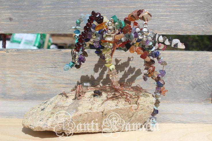 Chakra tree of life sculpture/Yukon quartz/tree of life/chakra healing/art/gift for him/gift for her/copper tree/energy healing/healing by ZantiKamala on Etsy