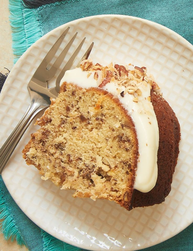 Coconut, pecans, and a cream cheese glaze make this Italian Cream Bundt Cake a winner. Such a great, simple twist on a classic dessert! - Bake or Break