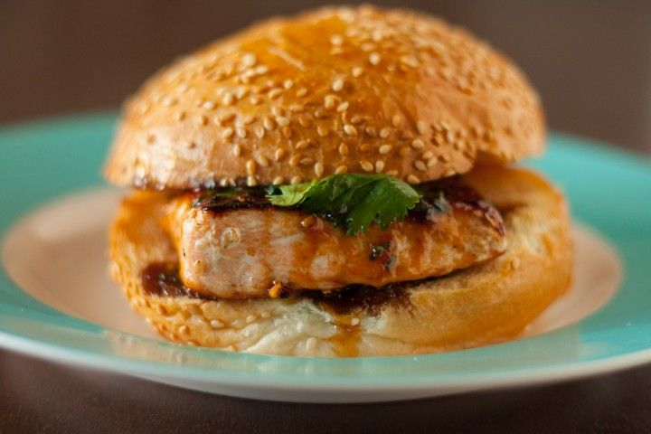 Sesame Salmon Burger with Apricot Soy Sauce Glaze | Recipe | Salmon ...