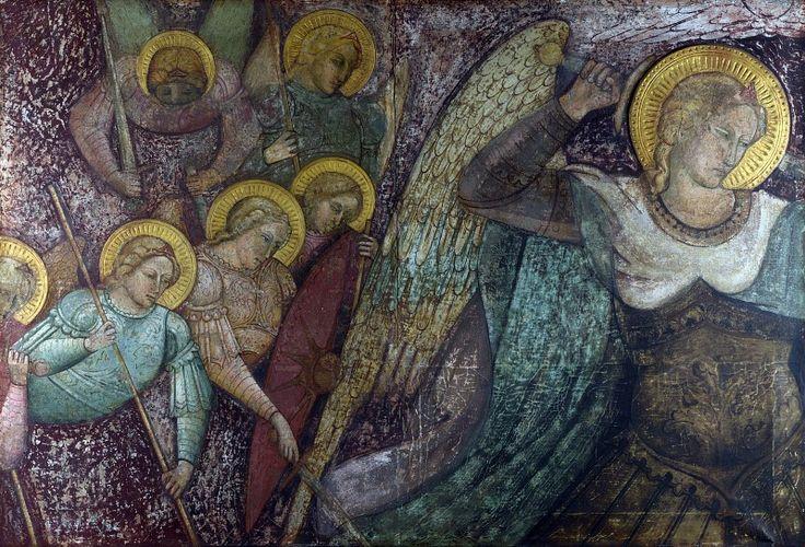 Спинелло Аретино - Святой Михаил и другие ангелы.  Национальная галерея