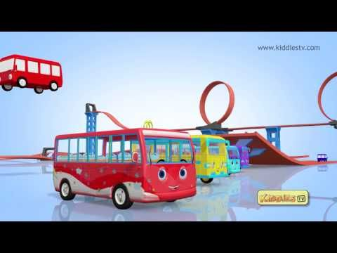Wheels on the bus song with another hot wheels tracks theme !