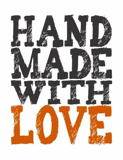 HandMade With Love print  black and by HouseofTenderBeasts on Etsy, $20.00