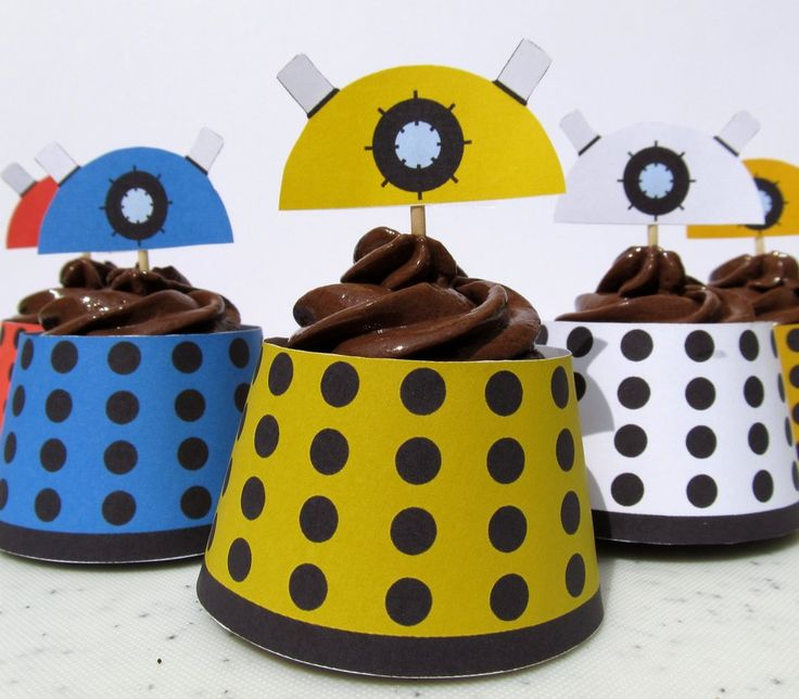 Dalek Cupcake Wrapper by ~F-A on deviantART