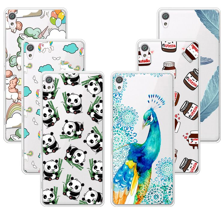 Fashion Nice Design Soft TPU Case For Sony Xperia XA Transparent Soft Silicone Cover Phone Cases For Sony Xperia XA