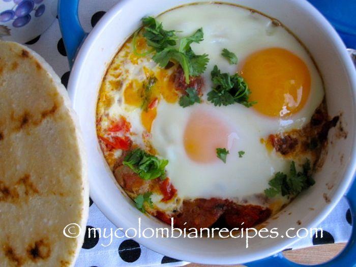 Cazuela de Huevos con Chorizo (Baked Eggs with Chorizo)