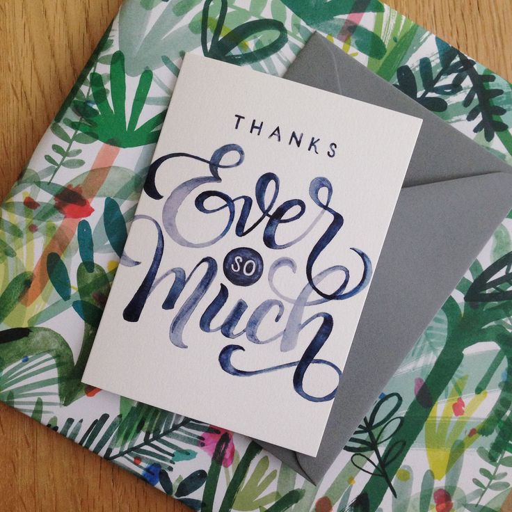 Posting out to our subscribers throughout February is this beautiful, hand-lettered 'thank you' card from Emily VanHoff, exclusively designed for CardNest. To have this sent to you (we post worldwide!) and two other gorgeous greetings cards from this month's delivery, sign up at www.cardnest.com by 28th February!