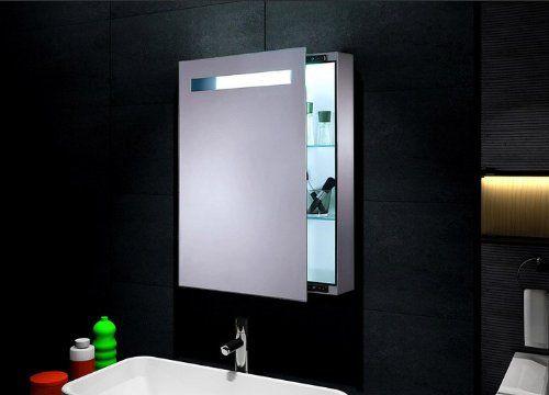 sliding bathroom mirror medicine cabinet 18 w x 30 h w lights left