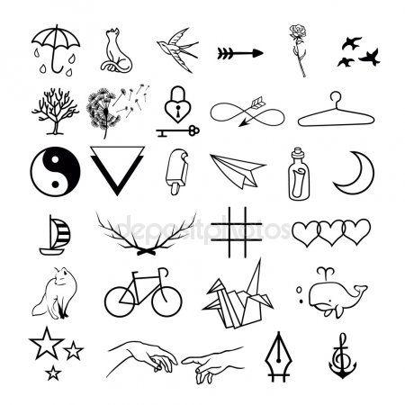 Картинки по запросу минималистичные тату эскизы   Татуировки