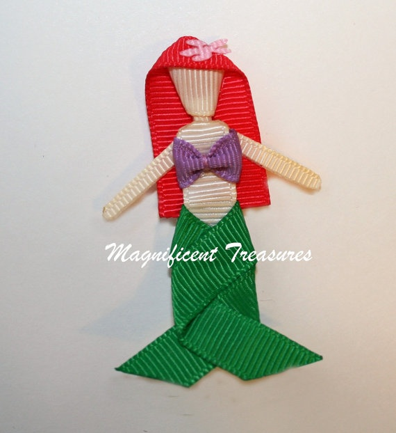 Little Mermaid Ariel Inspired Ribbon Sculpture by Magnificence, $5.00