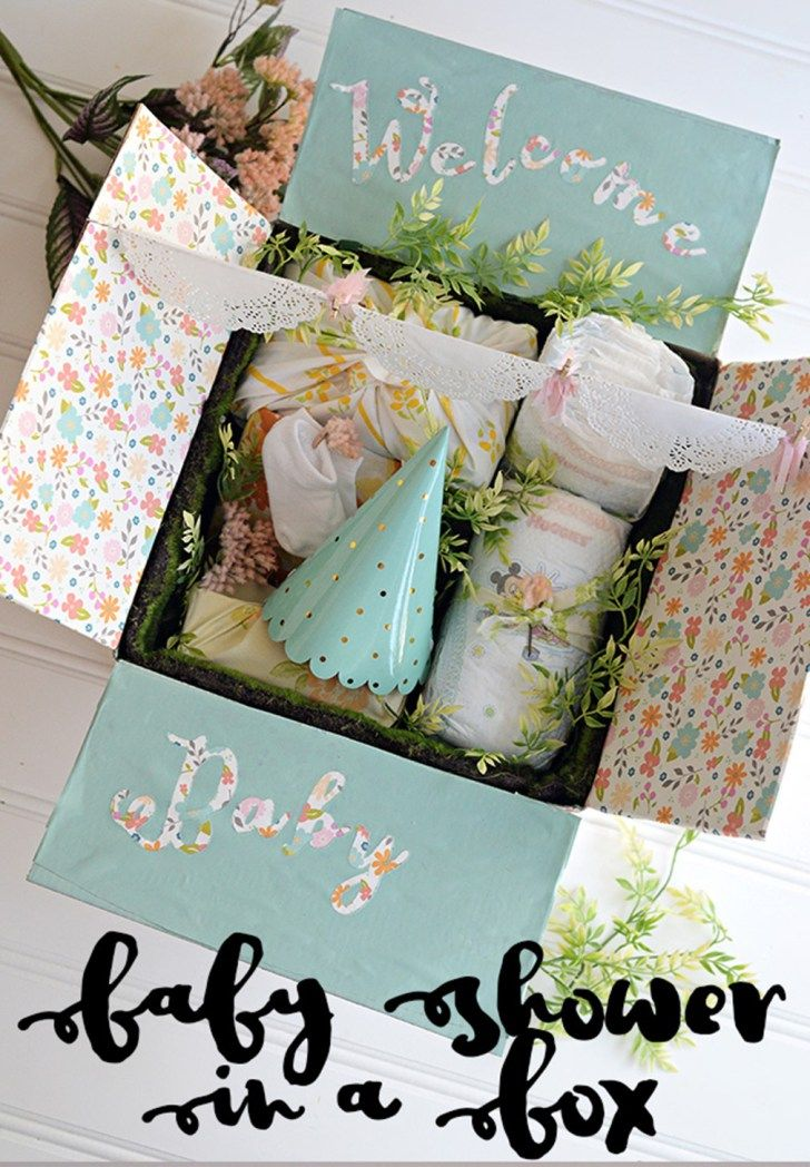 baby shower in a box how to make an adorable baby shower all in a