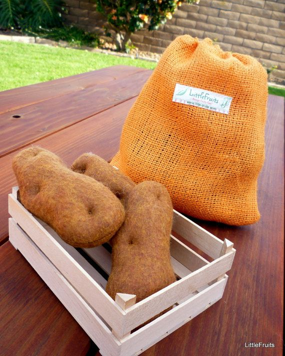 felt food - potatoes made with love only in IDAHO!