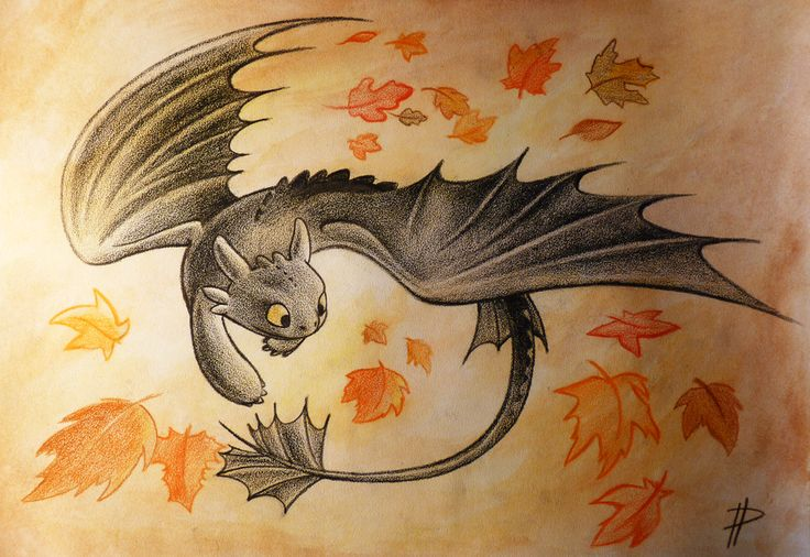 Autumn vortex ... How to train your dragon, toothless, night fury, dragon, autumn