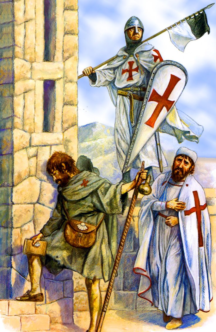 Knight Templar during the Crusade
