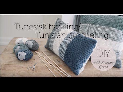 How to change yarn colour (left) in Tunisian crochet by Pescno & Søstren...